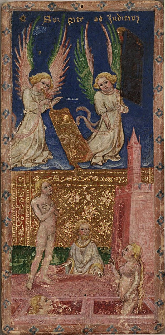 Death and Judgement in 15th Century Tarot Cards: A photo essay | Judgement from the Visconti tarot deck