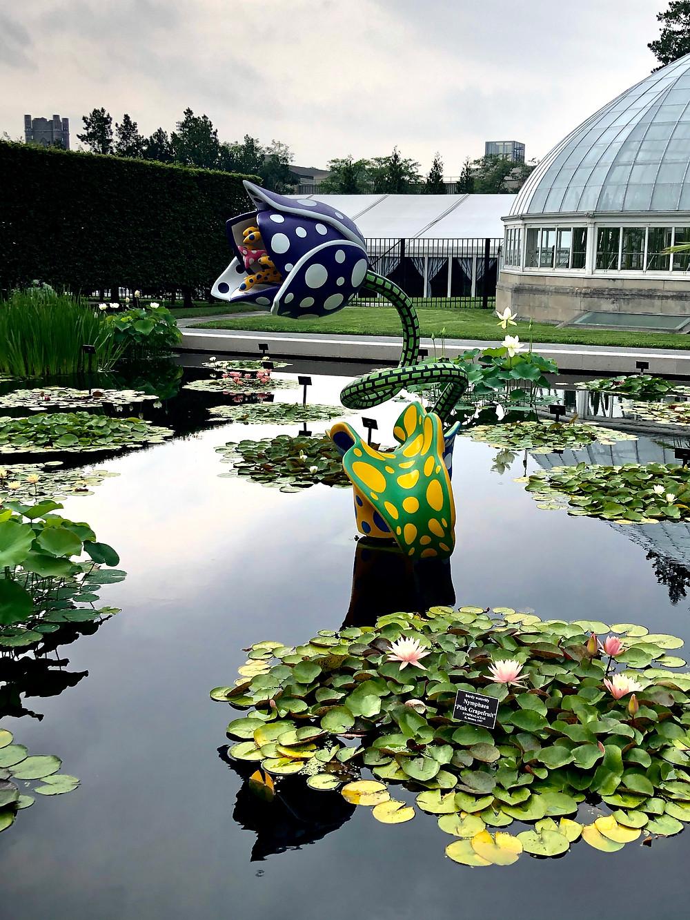 """""""Hymn of Life—Tulips"""" by Yayoi Kasuma at the New York Botanical Garden   Image by Liz Publika"""