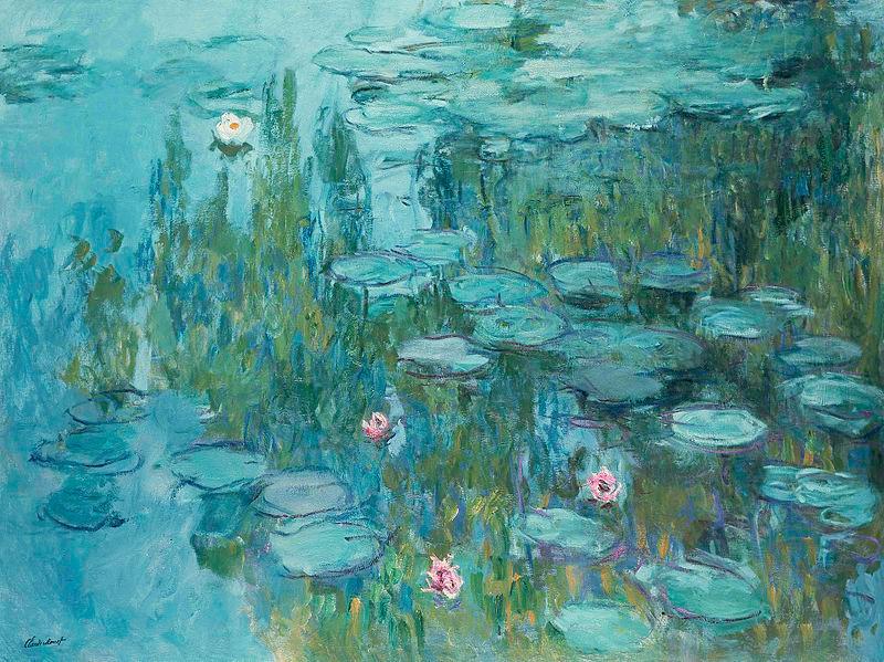 Water Lilies (1915) at Neue Pinakothek in Munich by Claude Monet (1840 - 1926)