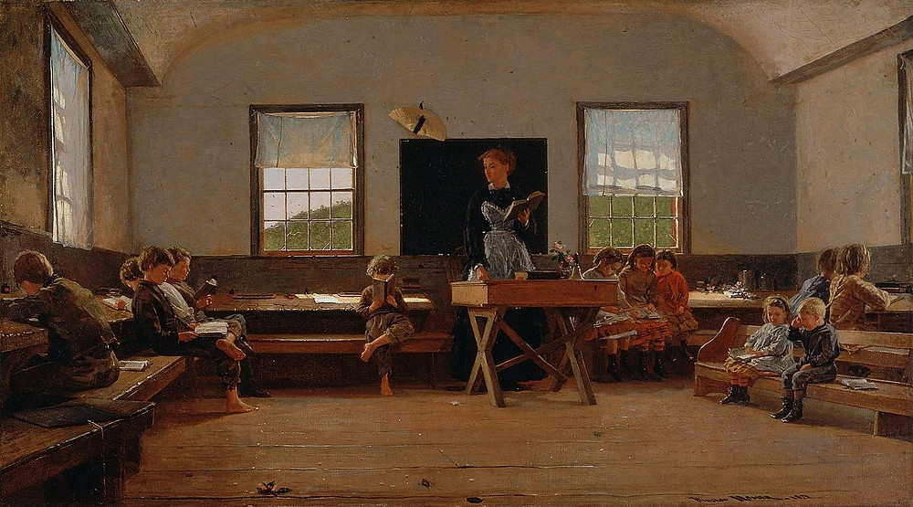 "From STEM to STEAM: How the arts are being reintegrated into schools | ""The Country School"" (1870) by Winslow Homer"