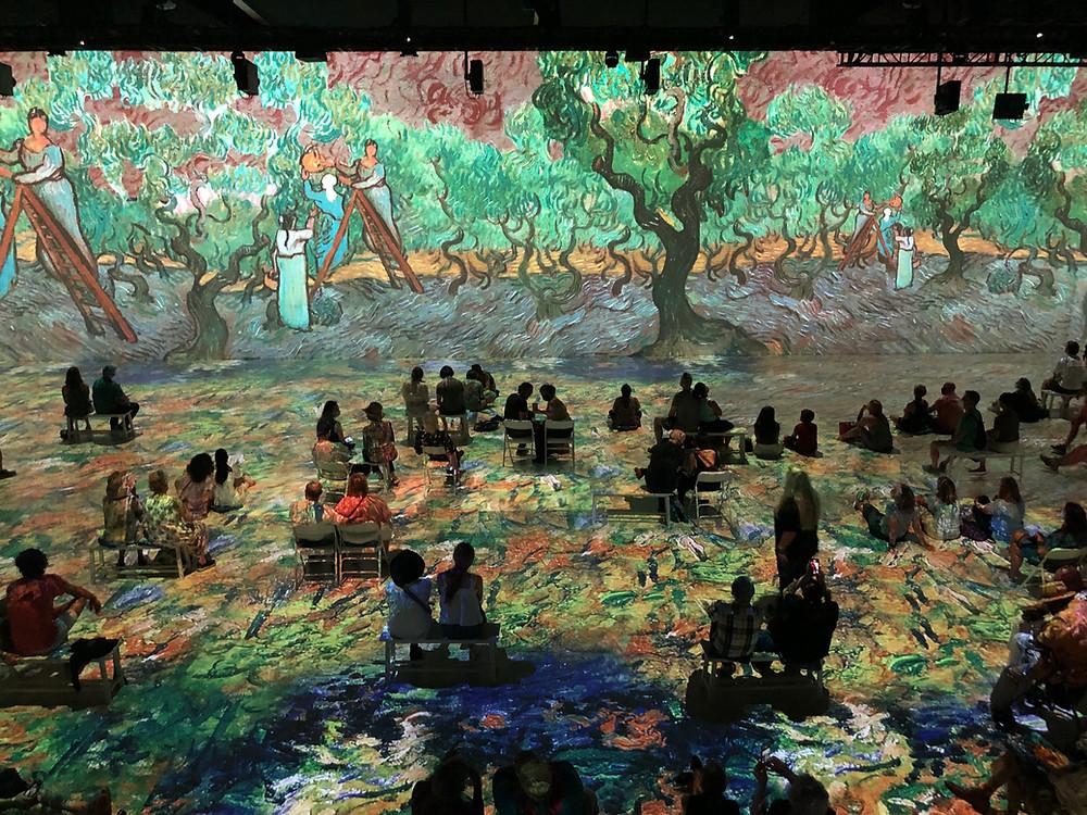 Original Immersive Van Gogh Exhibition in NYC | Image Credit Liz Publika