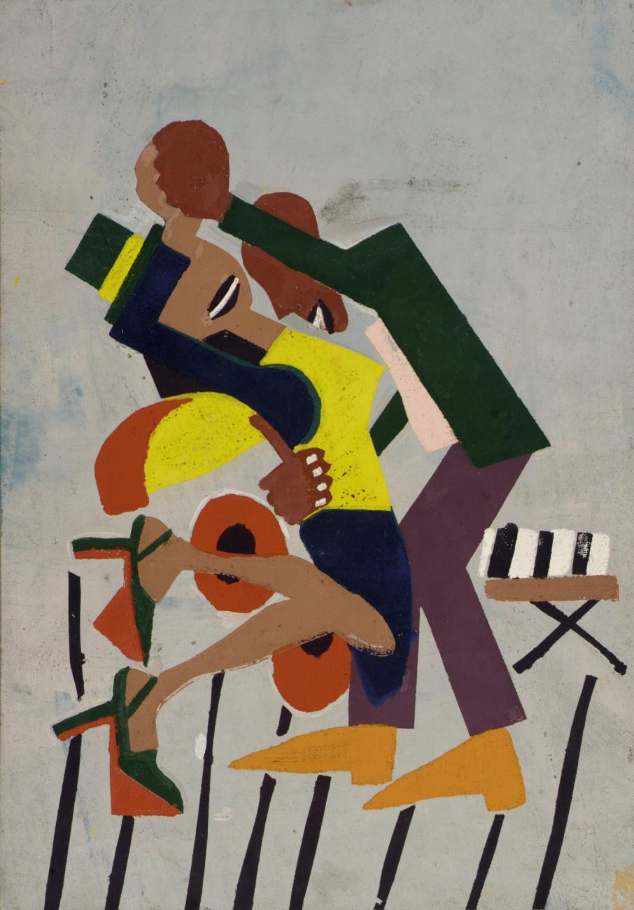 William H. Johnson, Jitterbugs (III), ca. 1941, screenprint on paper, Smithsonian American Art Museum, Gift of Mrs. Douglas E. Younger, 1971.133R-V