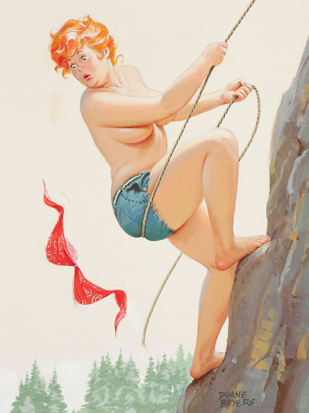 Hilda the Pin-Up Calendar Girl by Duane Bryers (1911 — 2012): A visual essay