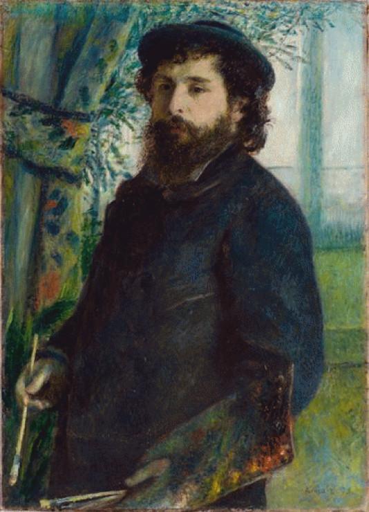 Portrait of Claude Monet (1875) by Pierre-Auguste Renoir (1814 - 1919)