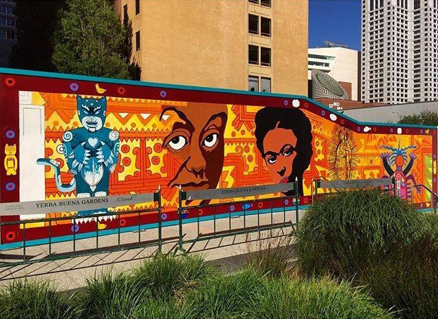 "Transforming Communities with City Murals | ""Mexican Museum Barricade Mural Project""  © 2016 Precita Eyes Muralists"