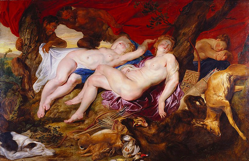 Diana and her Nymphs Spied upon by Satyrs (1616) by Sir Peter Paul Rubens