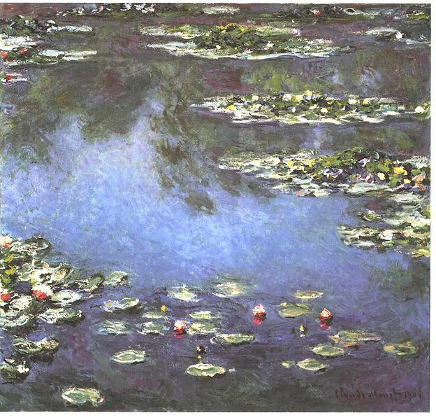 Water Lilies (1906) at the Art Institute of Chicago by Claude Monet (1840 - 1926)