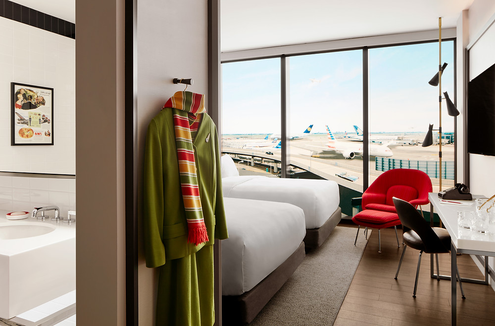 The TWA Hotel: America's Aviation Icon Returns | Model guest room at the TWA Hotel, courtesy of TWA