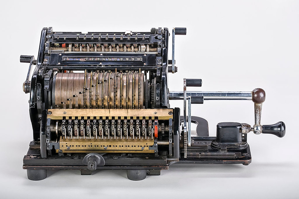 The American Computer & Robotics Museum: Interview with Executive Director, Eleanor Barker |A Brunsviga 15 mechanical calculator with serial number 202550. The shrouds had been removed to reveal the internal mechanic. Produced by Brunsviga-Maschinenwerke Grimme, Natalis & Co. AG, Braunschweig between 1934 and 1947.