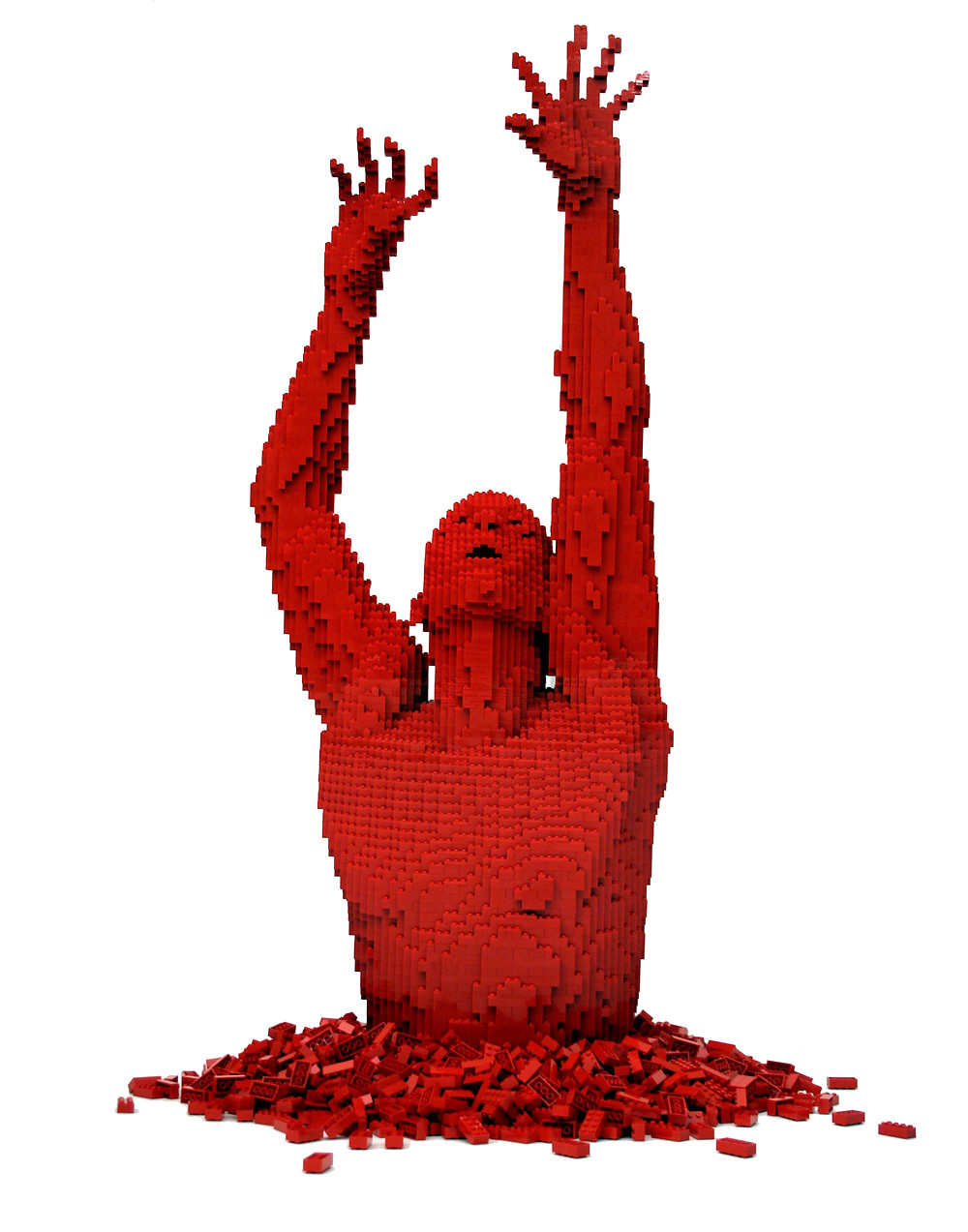 "Pop Culture, Internal Angst, and the LEGO Art of Nathan Sawaya | ""Red"""