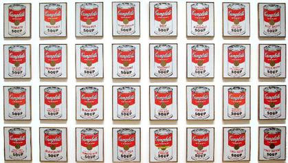 "MENU A'LA CARTE: Culinary arts and the avant-garde | ""Campbell Soup Cans"" (1962) by Andy Warhol"