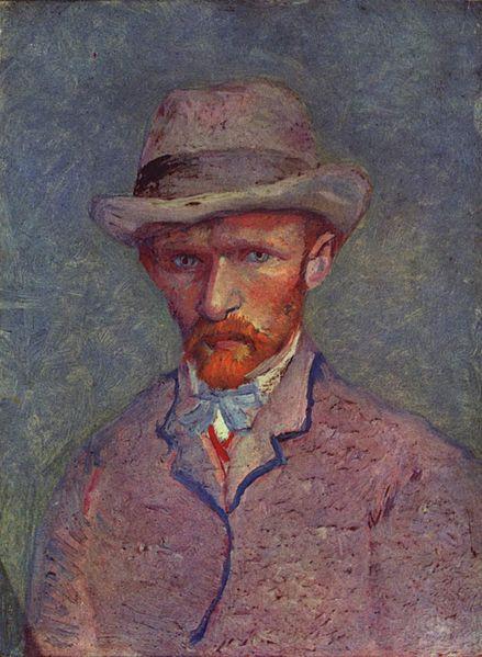 """""""Self Portrait"""" (1887)  by Vincent Van Gogh (1853—1890)"""