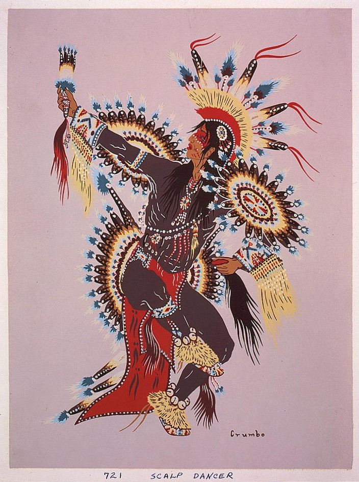"""""""Scalp Dancer"""" (1952) Woody Crumbo (1912 — 1989)"""