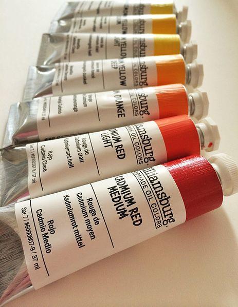 Cadmium paints