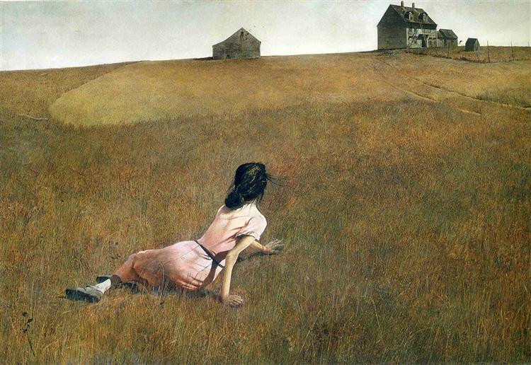 """""""Christina's World"""" (1948) by Andrew Wyeth via MoMA in NYC"""