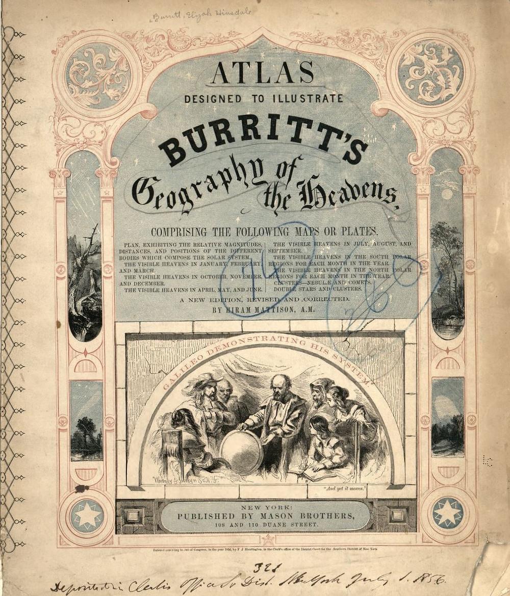 Atlas Designed to Illustrate Burritt's Geography of the Heavens