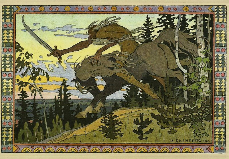 How to Kill Koschei the Deathless: Symbolism and nature | Illustration of Koschei the Deathless  (1901) by Ivan Bilibin