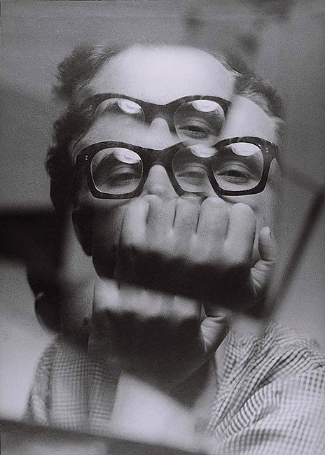 Zdzisław Beksiński and Decay in the Light of Contemporary Polish Art | Zdzisław Beksiński Self Portrait (circa 1956 - 1957) via Piotr Dmochowski's collection