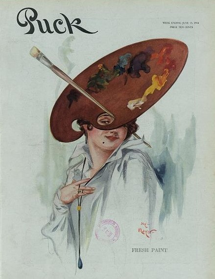 Fashion in Satire and Social Commentary by Henry Mayer | Puck, v. 75, no. 1945 (1914 June 13), cover.