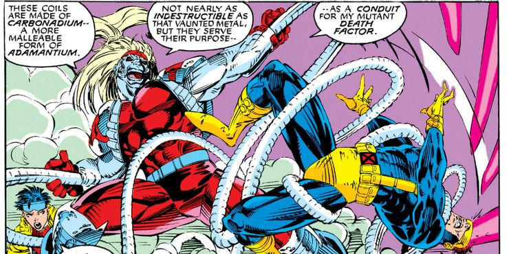 Omega Red and his retractable tentacles