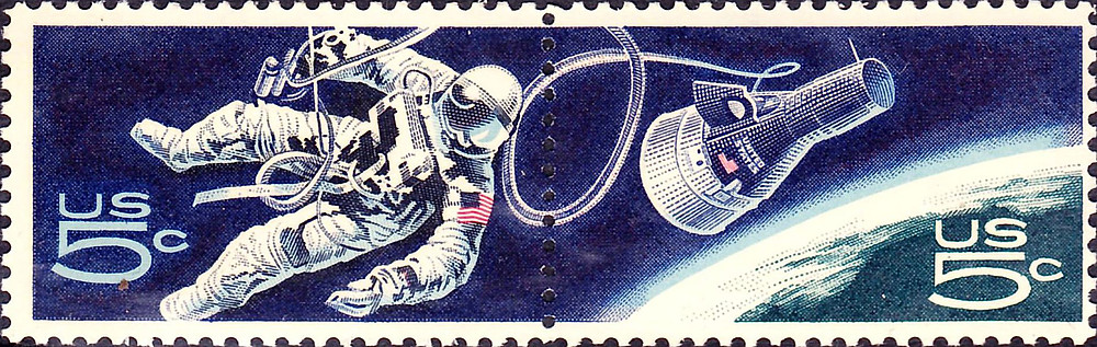 US Space Walk | Commemorative Issue | September 29, 1967 | Public Domain Wiki