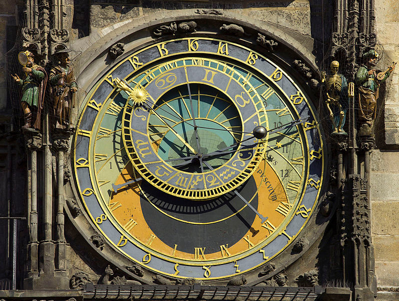 Interactive Storytelling Through Animated Technology: The evolution of animatronics  | The Prague astronomical clock (in Old Town Square) was installed in 1410 by clock-makers Mikuláš of Kadaň and Jan Šindel, and is the oldest functioning Astronomical clock in the world.