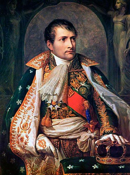 """""""Napoleon, King of Italy"""" (1805) by Andrea Appiani (1754—1817)"""