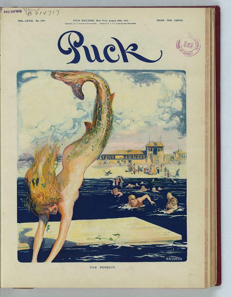 """The Pursuit"" (1910) by Carl Hassmann (1869 - 1933)"