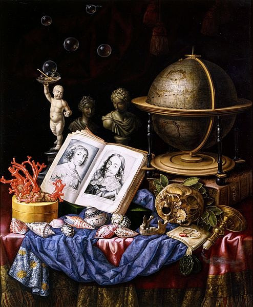 "Vanitas, Vanity of Vanities: This is why we can't have nice things | ""Allegory of Charles I of England and Henrietta of France in a Vanitas Still Life"" (circa 1640 to 1653) by Carstian Luyckx"