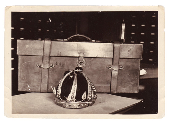 Kalakaua's crown, after being plundered | Image via Hawaii State Archives
