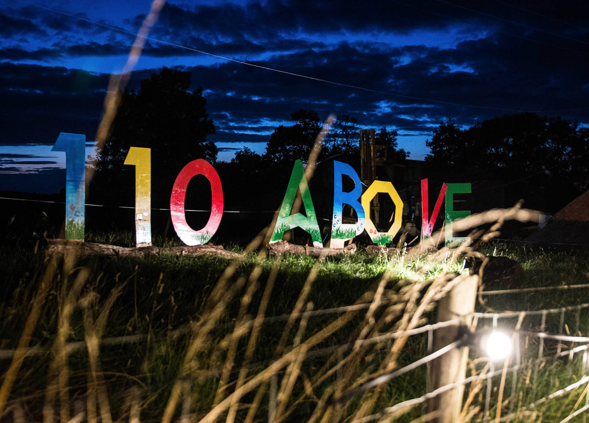 110 Above Festival sign