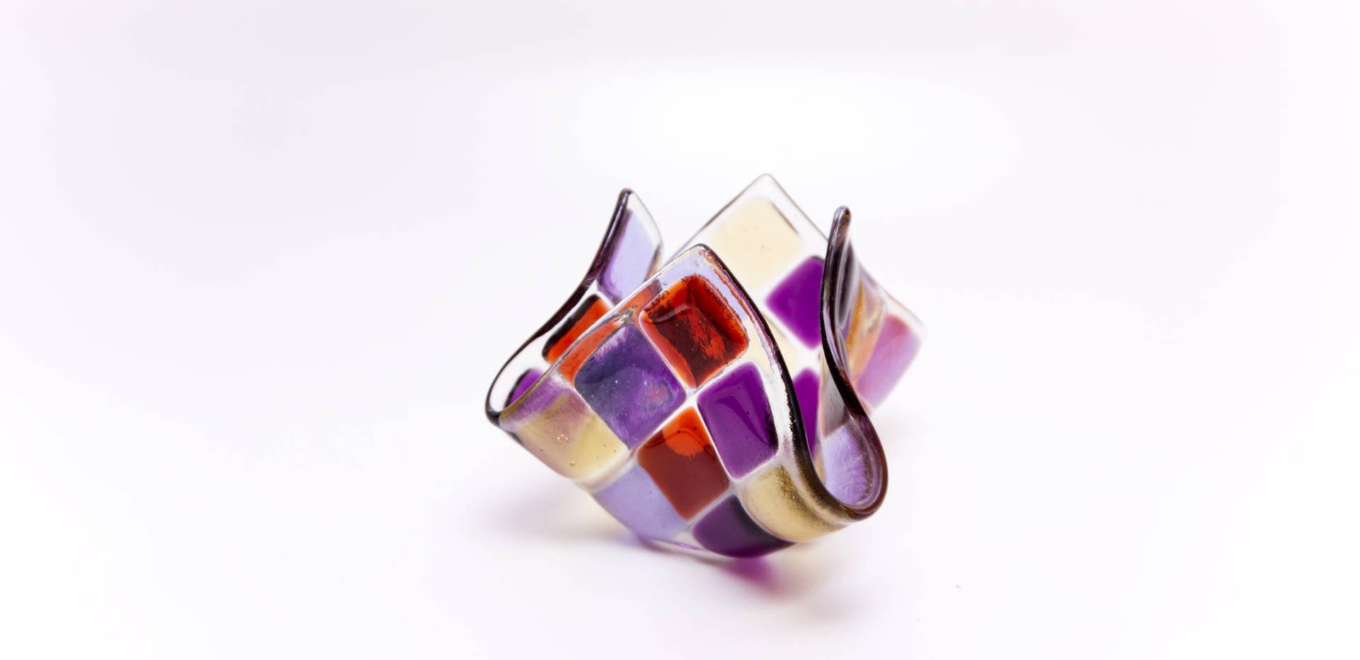 Teelicht klein Violett / Lavendel / Coral / Hellgelb