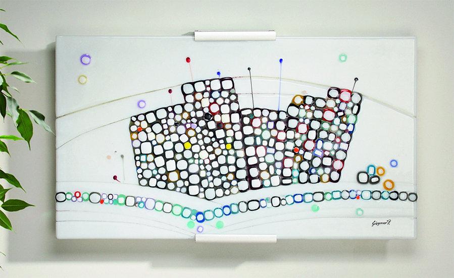 "Glasbild Serie Mosaike ""Skyline"""