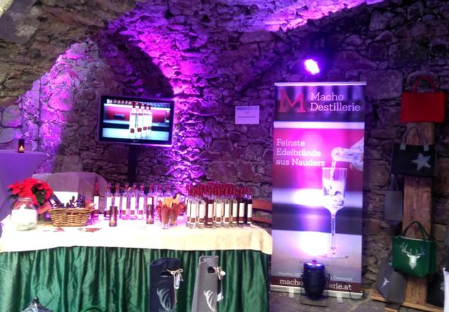 Macho Destillerie Stand am 2. Riedegger Schlossadvent 2019