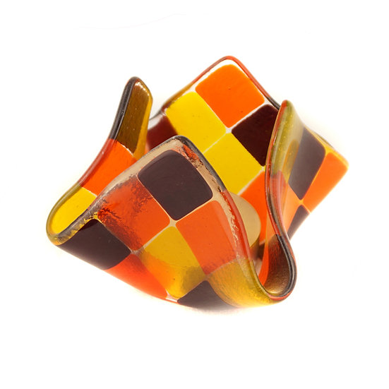 Tealight large | garnet red / light orange / golden yellow