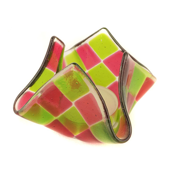 Tealight large | Pink / Green