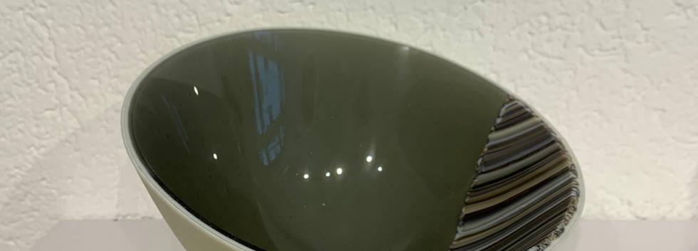 Schüssel vanille/ grau