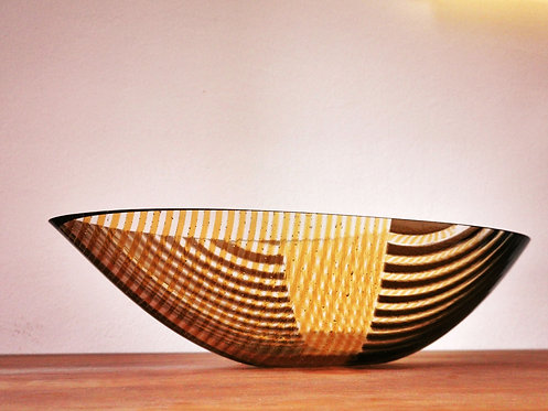 The Brown striped boat
