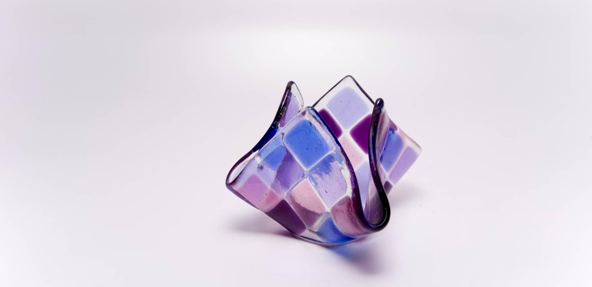 Teelicht klein Violett / Lavendel / Hellblau / Rosé