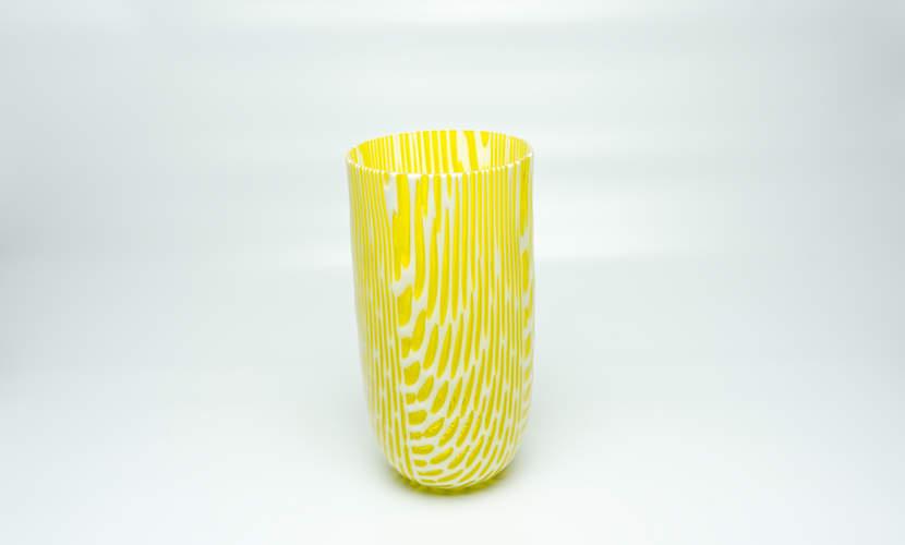 Vase Ibiza Yellowwhite