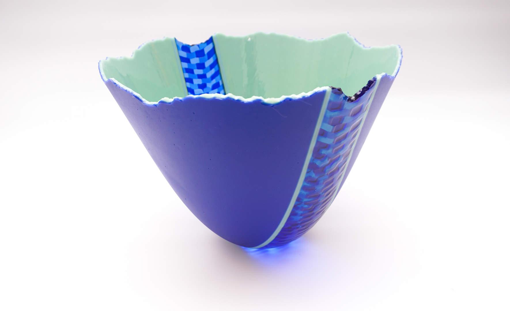 Deep Bowl Ojamumbo - Cobalt Blue, Mint Green