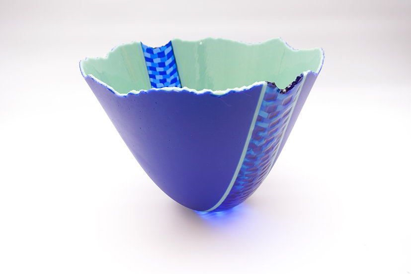 Deep Bowl Ojamumbo - Cobalt Blue, Mint Green