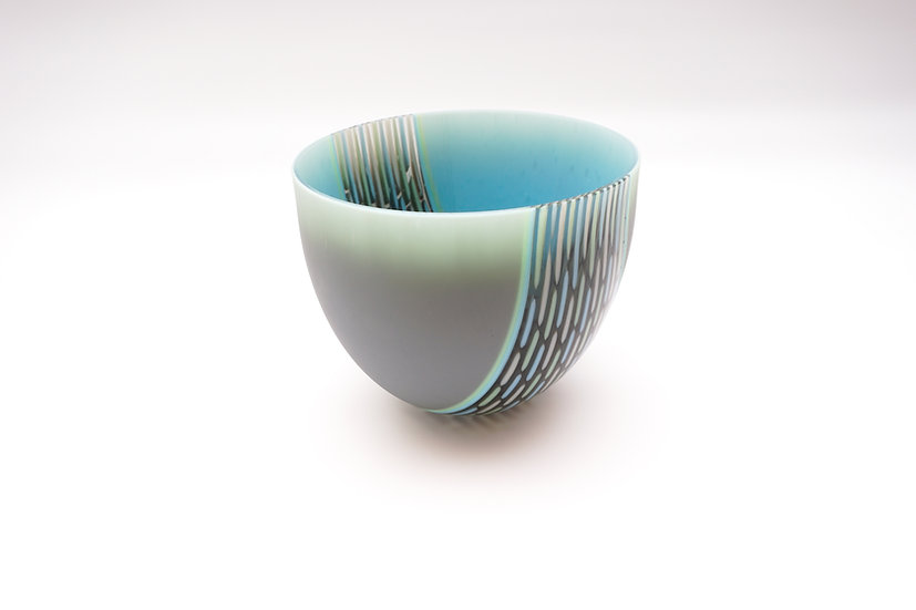 Deep Bowl - Grey, Turquoise