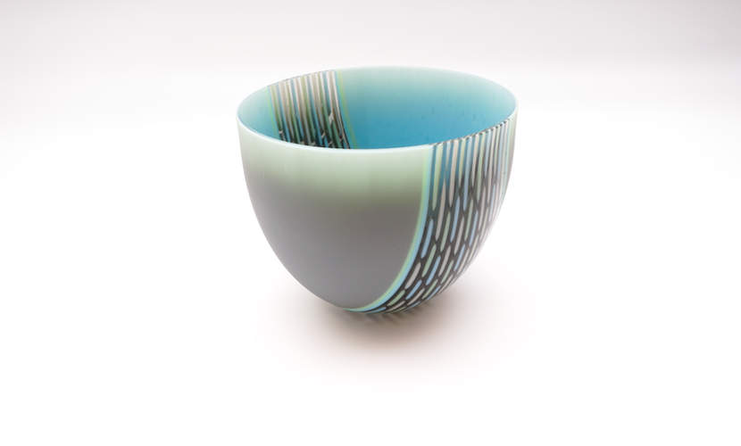Deep Bowl - Grey, Turquoise