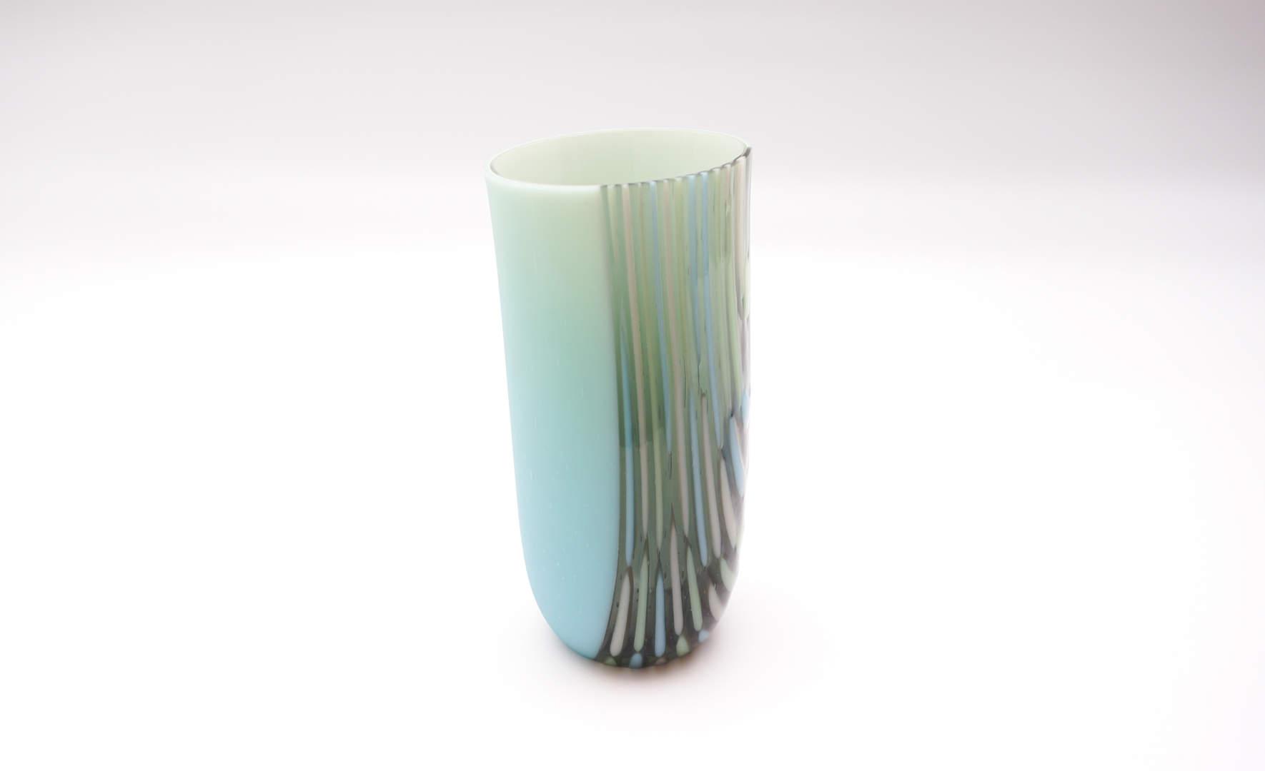 Vase - Grey, Turquoise
