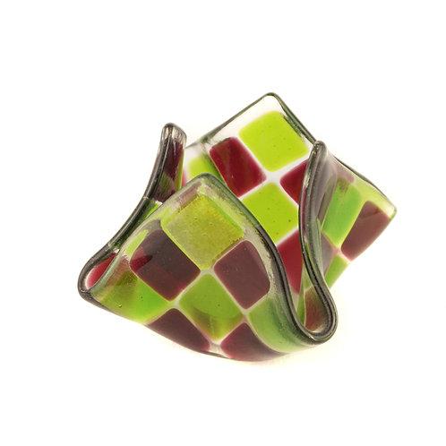 Teelicht klein | Fuchsia / Grün