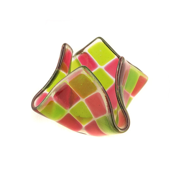 Tealight small | Pink / Green