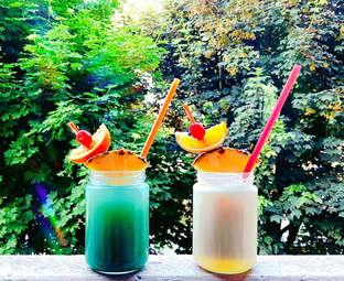 Wieder mal leckere Cocktails von der Leons Bar! Jetzt auch gegen Pfand mit Glas!