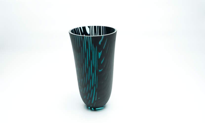 Vase Kilauea Aquablack