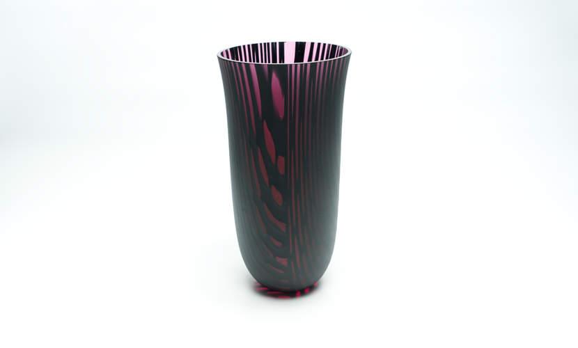 Vase Kilauea Pinkblack